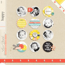 HAPPY digital scrapbooking layout created by raquels featuring Pure Happiness by Sahlin Studio