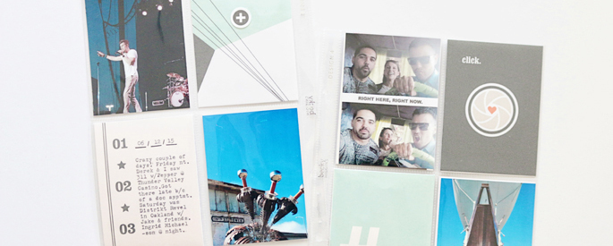 "Project Life layout using the digital ""Viewpoint"" (Kit, Journal Cards) by Sahlin Studio"