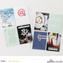 Hybrid pocket scrapbooking inspiration using Composition by Sahlin Studio