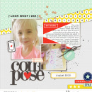 Digital scrapbooking inspiration using Composition by Sahlin Studio