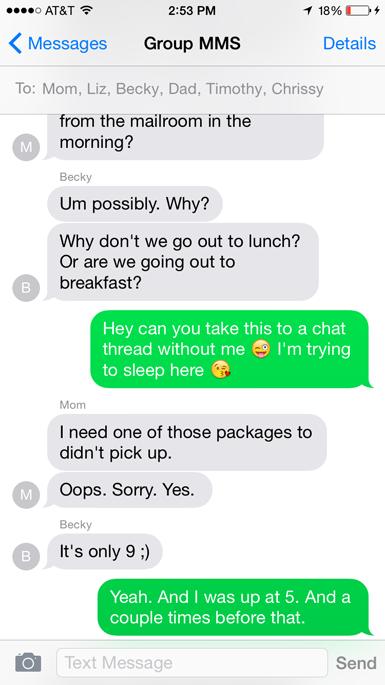 family text thread