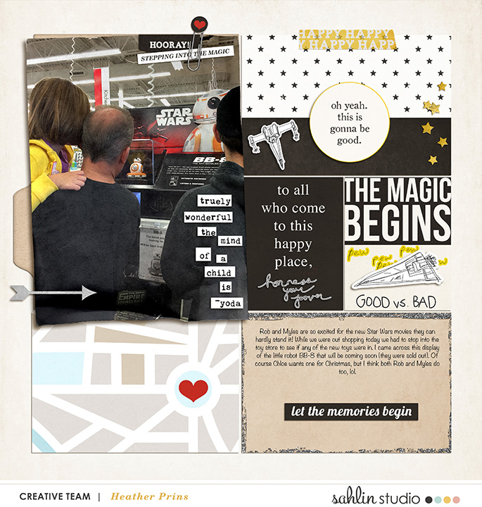 Disney Star Wars Project Life inspiration page  using Project Mouse: Main Street by Britt-ish Designs and Sahlin Studio