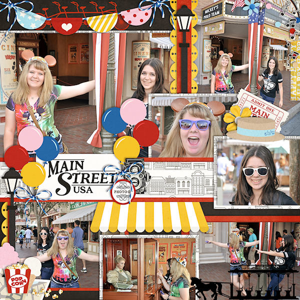 Disney Digital scrapbooking inspiration page  using Project Mouse: Main Street by Britt-ish Designs and Sahlin Studio
