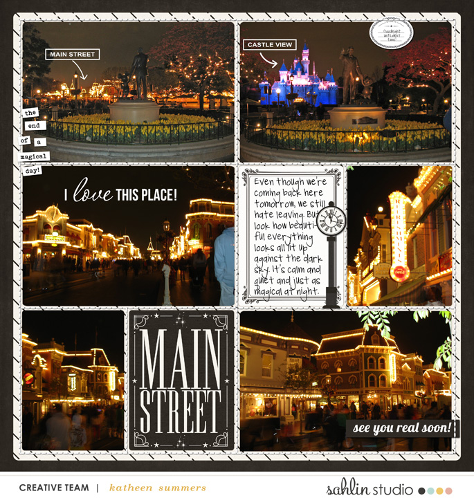 Project Life inspiration page by kathleen.summers  using Project Mouse: Main Street by Britt-ish Designs and Sahlin Studio