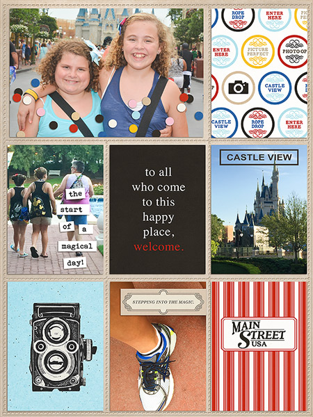 Project Life inspiration page by sirscrapsalot using Project Mouse: Main Street by Britt-ish Designs and Sahlin Studio
