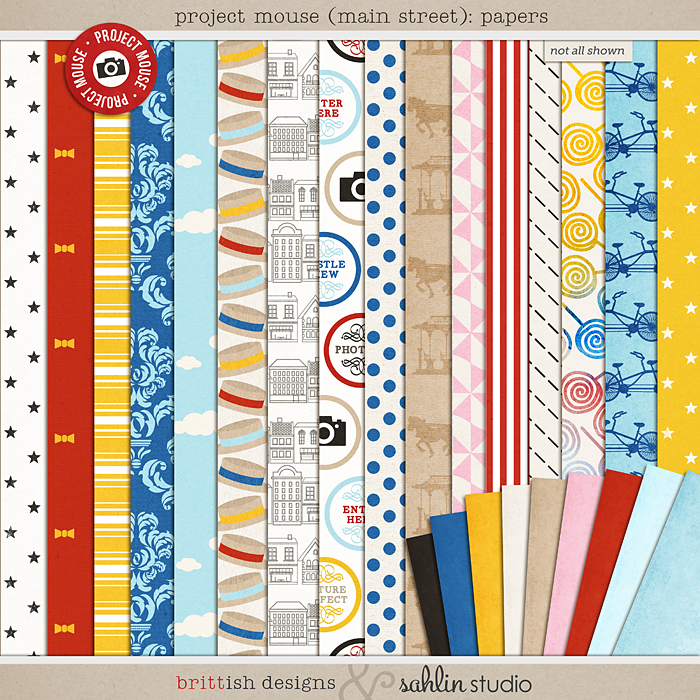 Project Mouse (Main Street): Papers by Britt-ish Designs and Sahlin Studio