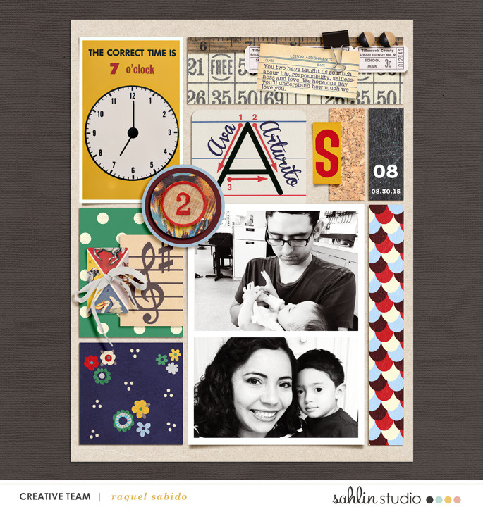 digital scrapbooking layout created by raquels featuring the september 2015 free template by sahlin studio