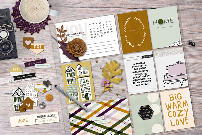 Memory Pockets Monthly | Home by The LilyPad and Sahlin Studio