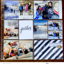 Gather Digital Project Life layout featuring MPM: Home and Gather by Sahlin Studio