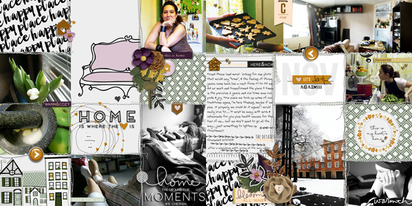 digital pocket scrapbooking layout by MrsPeel featuring mpm home add on: gather.