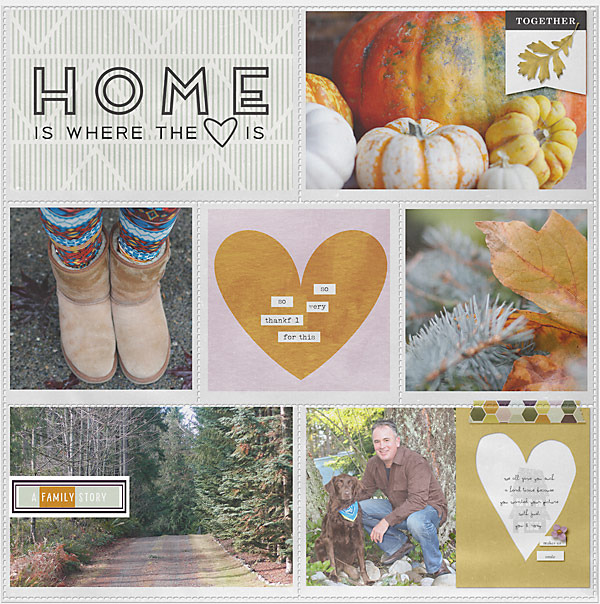 digital pocket scrapbooking layout by Skaphelpsi featuring mpm home add on: gather.