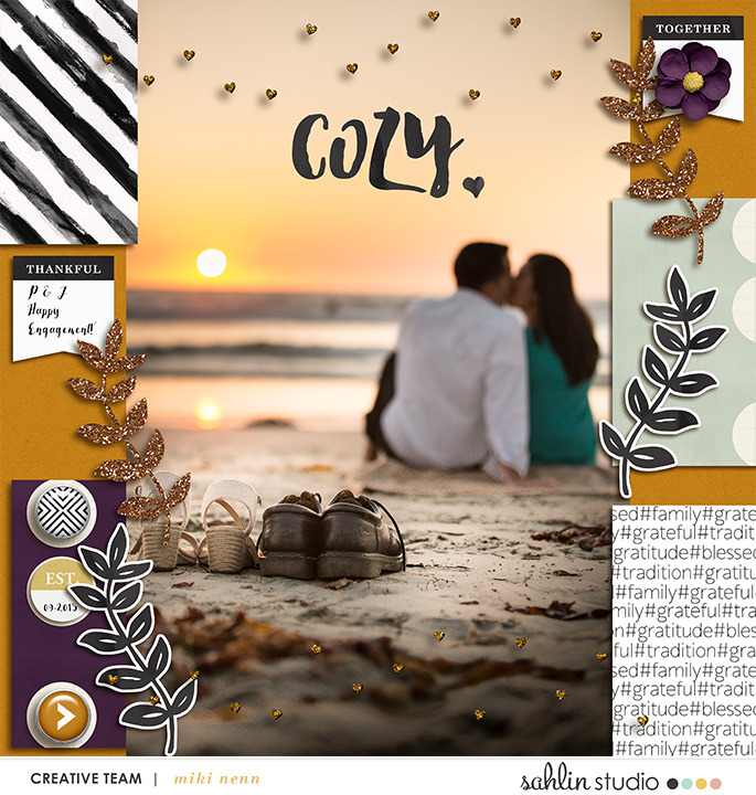 Autumn Digital Scrapbook layout featuring MPM: Home and Gather by Sahlin Studio