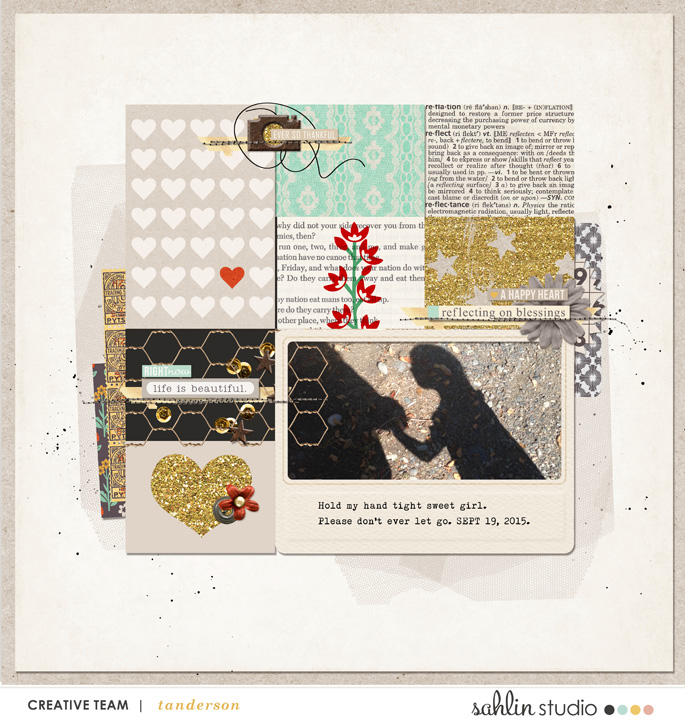 digital scrapbooking layout created by tnanderson featuring Reflection by Sahlin Studio