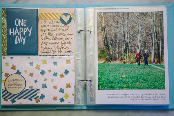 Gratitude / Grateful Album by Lori (lcpereyra) using Memory Pockets Monthly (MPM): Gather by The LilyPad and Sahlin Studio