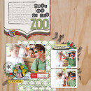 digital scrapbook layout featuring adventure alpha by sahlin studio