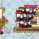 digital scrapbooking layout featuring Aged Words: Christmas by Sahlin Studio