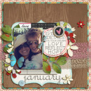 digital scrapbooking layout featuring Capturing Life Word Art by Sahlin Studio
