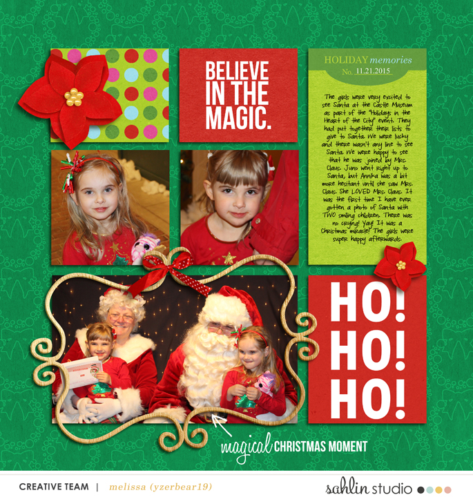 digital scrapbooking layout by yzerbear19 featuring December 2015 FREE Template by Sahlin Studio