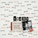 digital scrapbooking layout featuring Est. Date by Sahlin Studio