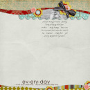 digital scrapbook layout featuring Everyday by Sahlin Studio