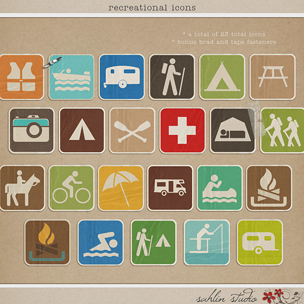 Recreational Icons by Sahlin Studio