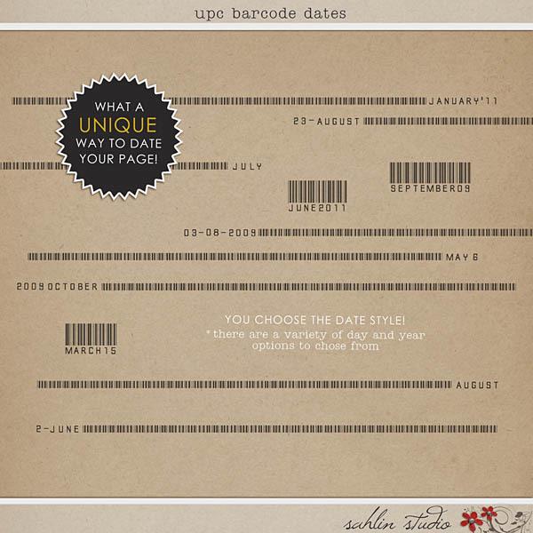 UPC Barcode Dates by Sahlin Studio