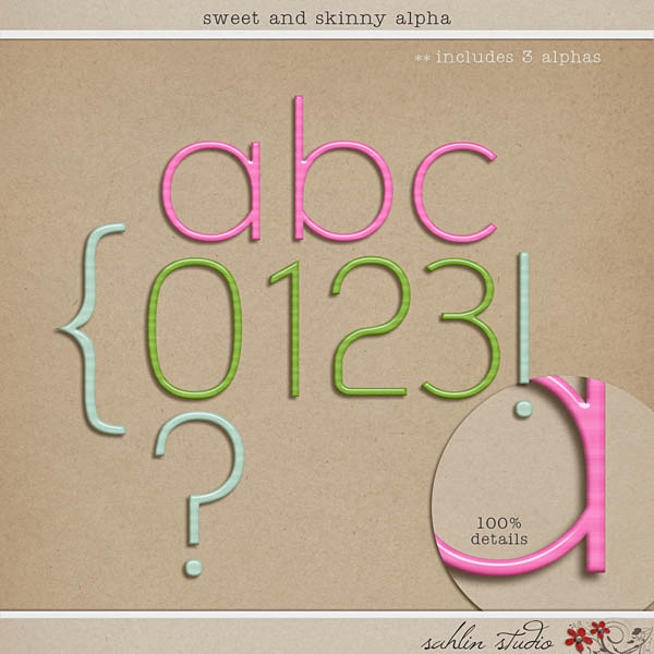 Sweet And Skinny Alpha Sahlin Studio Digital Scrapbooking Designs