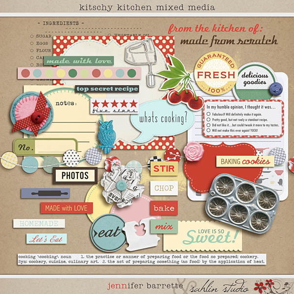 Kitschy Kitchen: Mixed Media by Jenn Barrette and Sahlin Studio