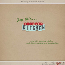 Kitschy Kitchen: Alphas by Jenn Barrette and Sahlin Studio