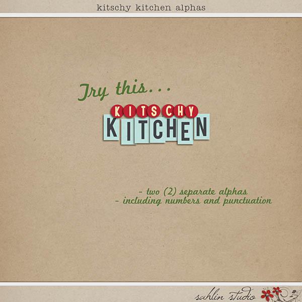 Kitschy Kitchen: Alphas by Jenn Barrette and Sahlin Studio