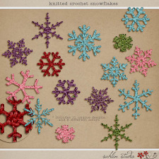 Knitted Crochet Snowflakes by Sahlin Studio