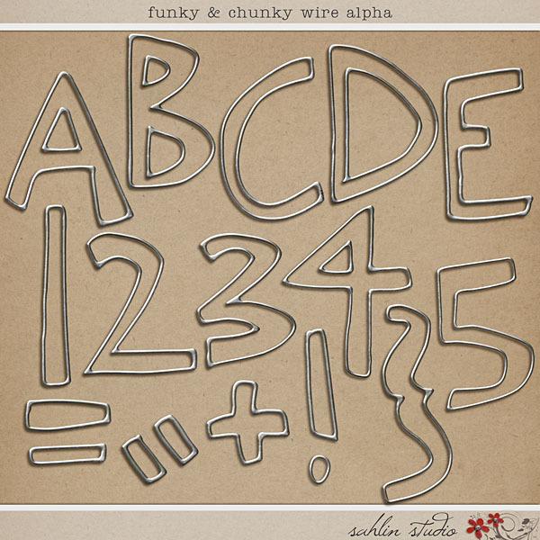 Funky & Chunky Wire Alpha by Sahlin Studio