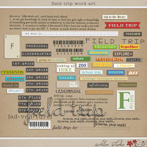 Field Trip Word Art by Sahlin Studio