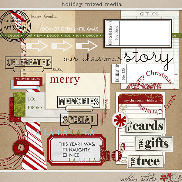 Holiday Mixed Media by Sahlin Studio