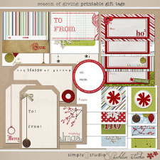 Season of Giving: Printable Gift Tags by Sahlin Studio and Simply J Studio