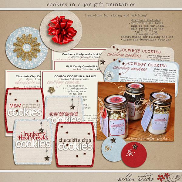 Cookies in a Jar Gift Printables by Sahlin Studio