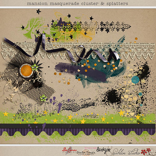 Mansion Masquerade Clusters and Splatters by Britt-ish Designs, DeCrow Designs, Sahlin Studio and Tangie Baxter