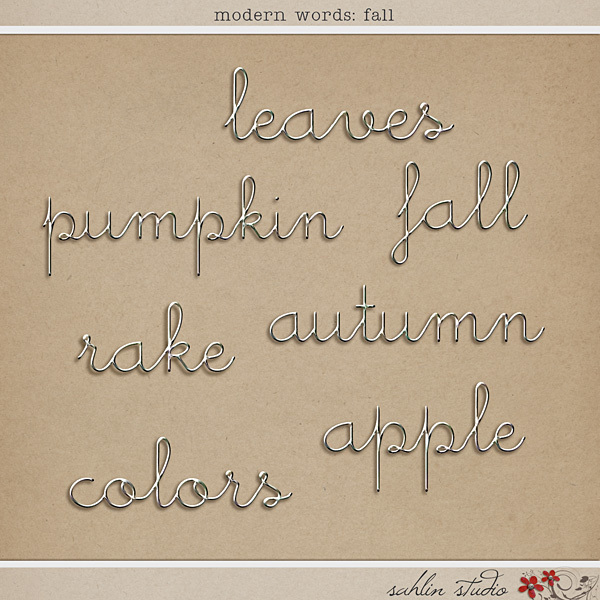 Modern Words: Fall by Sahlin Studio