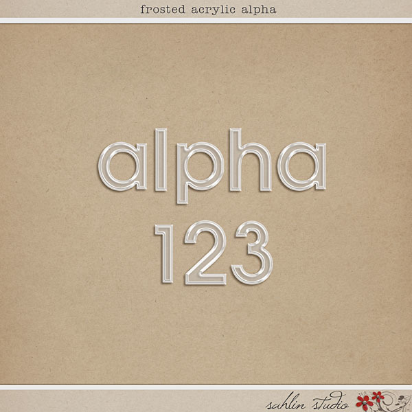Frosted Acrylic Alpha by Sahlin Studio