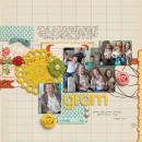 digital scrapbooking layout featuring Grandma's Dresser by Sahlin Studio