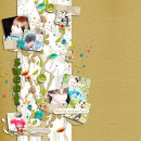 digital scrapbooking layout featuring Grass Alpha by Sahlin Studio
