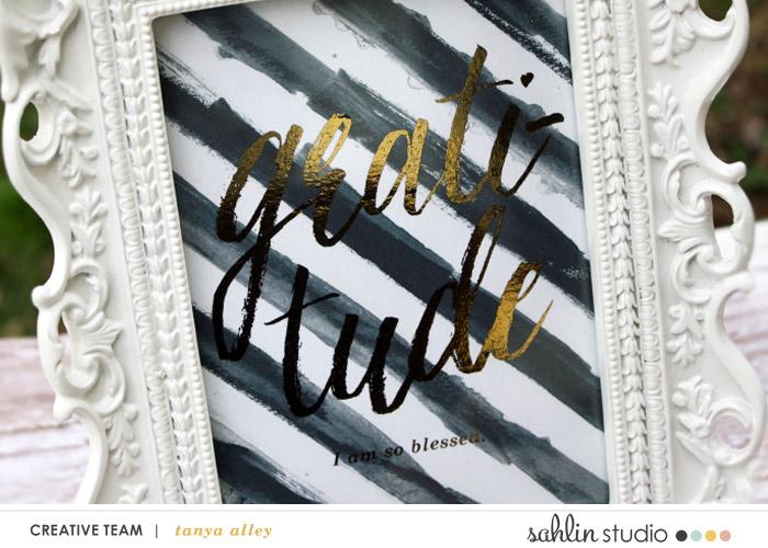 Tanya Alley | Foil Framed Art