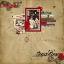 digital scrapbooking layout featuring Holiday Dates by Sahlin Studio