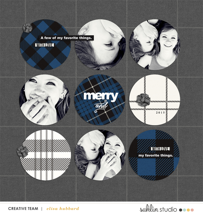Merry digital scrapbook layout featuring Mad For Plaid by Sahlin Studio
