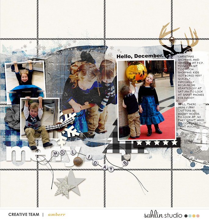 digital scrapbook layout by amberr featuring Mad For Plaid by Sahlin Studio