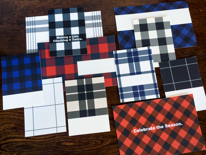 Mad for Plaid (Print & Cut) by Sahlin Studio | Perfect for Project Life, December Daily or Document your December projects!!