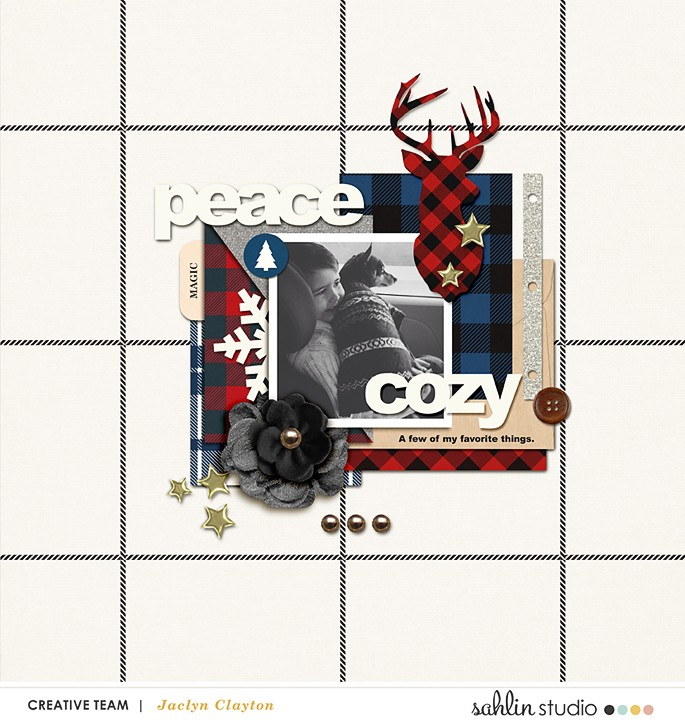 digital scrapbook layout by jackieclayton featuring Mad For Plaid by Sahlin Studio