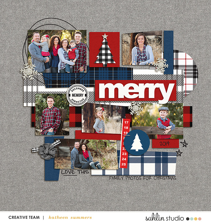 digital scrapbook layout by kathleen.summers featuring Mad For Plaid by Sahlin Studio