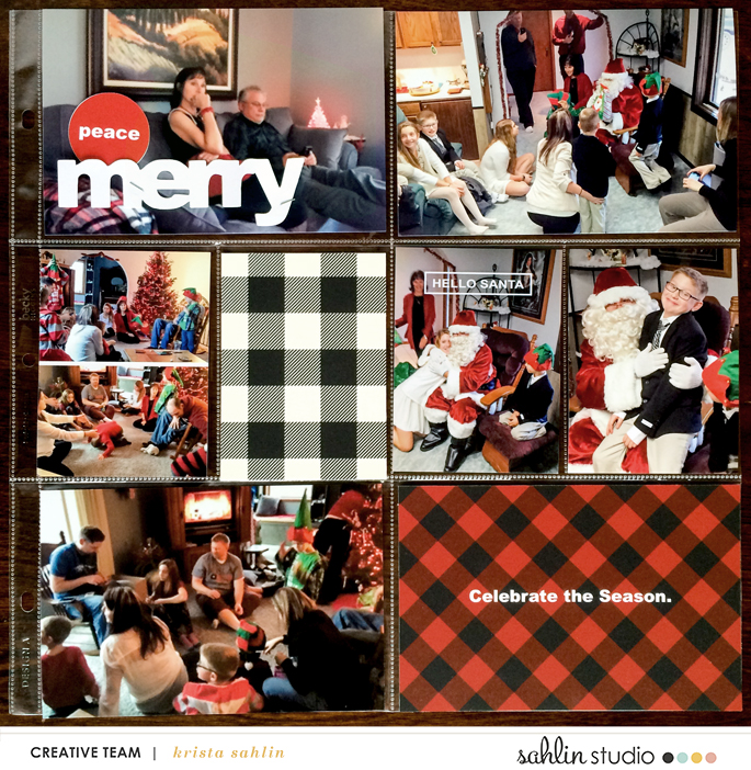 December Daily Christmas Project Life layout featuring Mad For Plaid by Sahlin Studio
