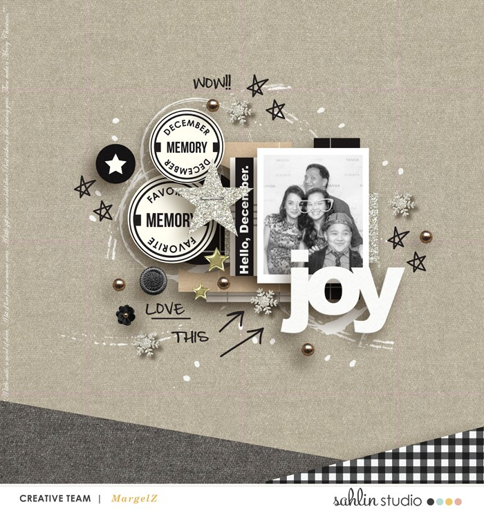 digital scrapbook layout by margelz featuring Mad For Plaid by Sahlin Studio